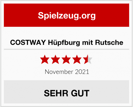 COSTWAY Hüpfburg mit Rutsche Test