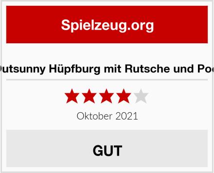 Outsunny Hüpfburg mit Rutsche und Pool Test