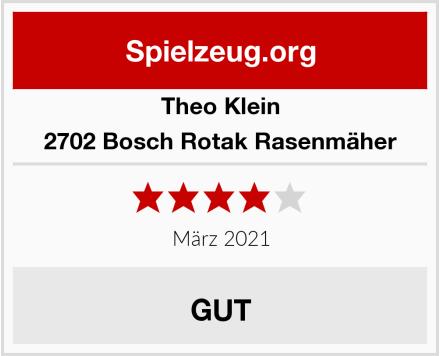 Theo Klein 2702 Bosch Rotak Rasenmäher Test