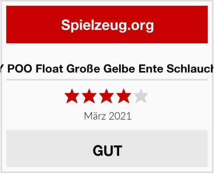 TGDY POO Float Große Gelbe Ente Schlauchboot Test