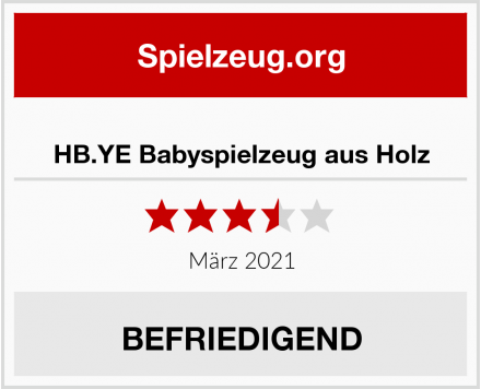 HB.YE Babyspielzeug aus Holz Test