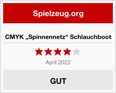 """CMYK """"Spinnennetz"""" Schlauchboot Test"""