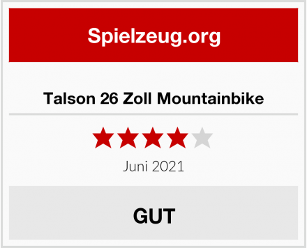Talson 26 Zoll Mountainbike Test