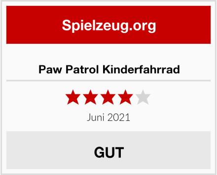 Paw Patrol Kinderfahrrad Test