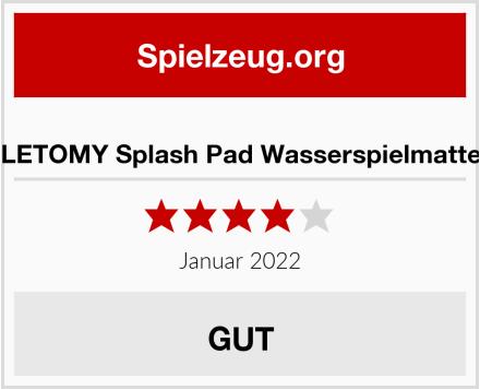 LETOMY Splash Pad Wasserspielmatte Test