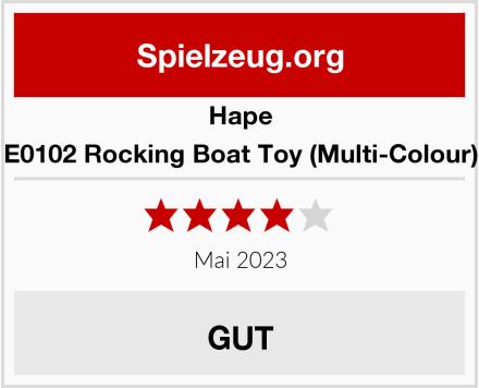 Hape E0102 Rocking Boat Toy (Multi-Colour) Test