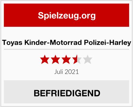 Toyas Kinder-Motorrad Polizei-Harley Test