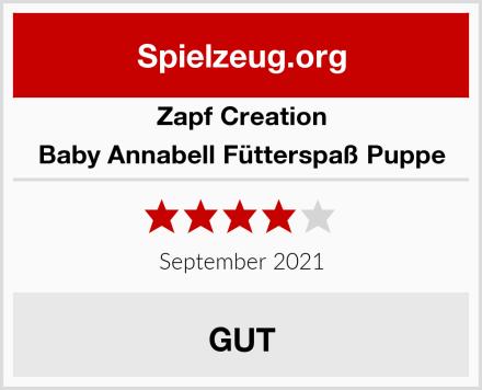 Zapf Creation Baby Annabell Fütterspaß Puppe Test