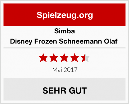 Simba Disney Frozen Schneemann Olaf  Test