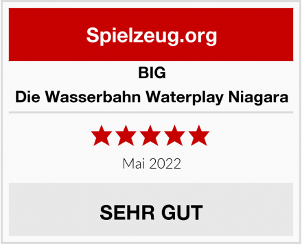 BIG Die Wasserbahn Waterplay Niagara Test