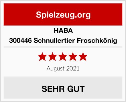 HABA 300446 Schnullertier Froschkönig Test
