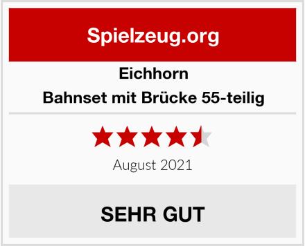 Eichhorn Bahnset mit Brücke 55-teilig Test