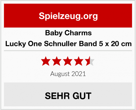 Baby Charms Lucky One Schnuller Band 5 x 20 cm Test