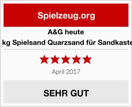 A&G heute 25 kg Spielsand Quarzsand für Sandkasten  Test