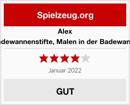 Alex Badewannenstifte, Malen in der Badewanne Test