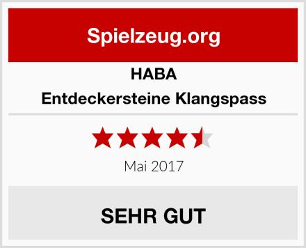 HABA Entdeckersteine Klangspass Test