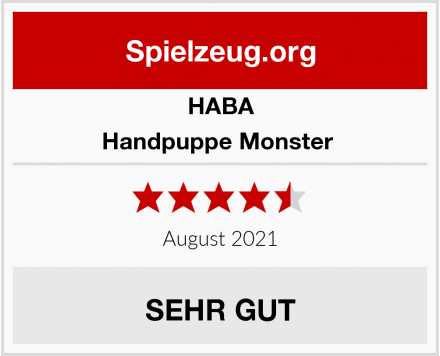 HABA Handpuppe Monster  Test