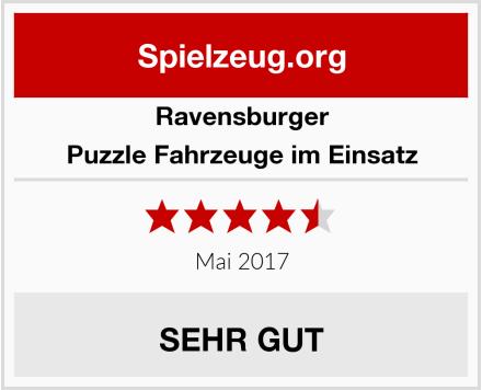 Ravensburger Puzzle Fahrzeuge im Einsatz Test