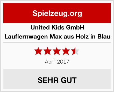 United Kids GmbH Lauflernwagen Max aus Holz in Blau Test