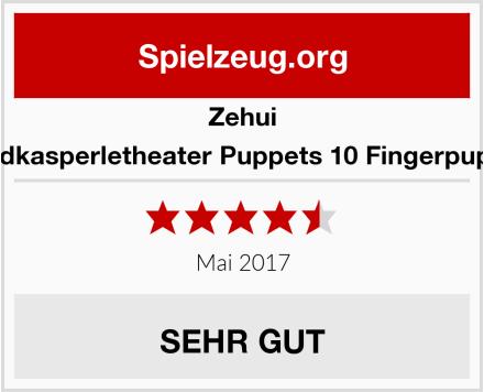 Zehui Handkasperletheater Puppets 10 Fingerpuppen Test