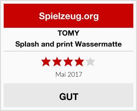 TOMY Splash and print Wassermatte Test