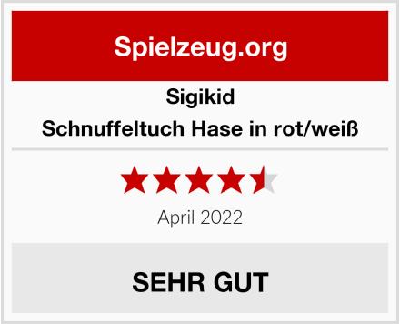 Sigikid Schnuffeltuch Hase in rot/weiß Test