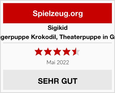 Sigikid Fingerpuppe Krokodil, Theaterpuppe in Grün Test