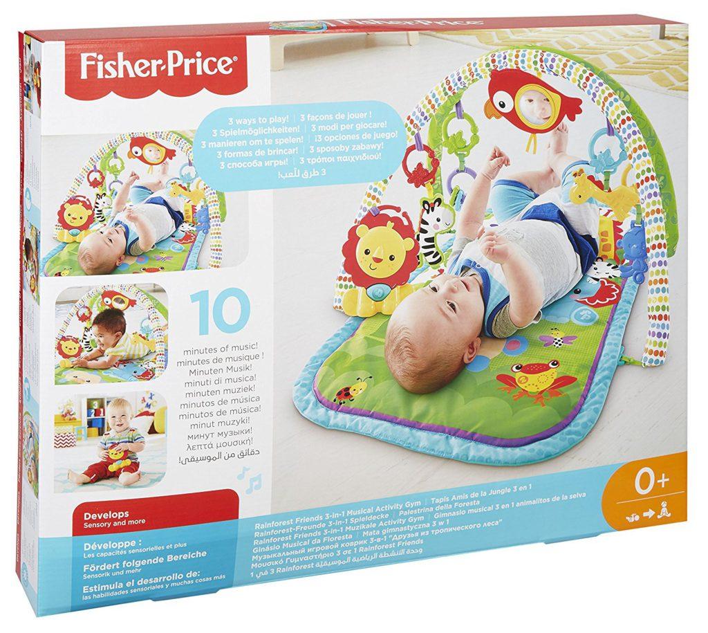 Rainforest-Freunde Mattel Fisher-Price CHP85 3-in-1,Spieldecke//krabeldecke