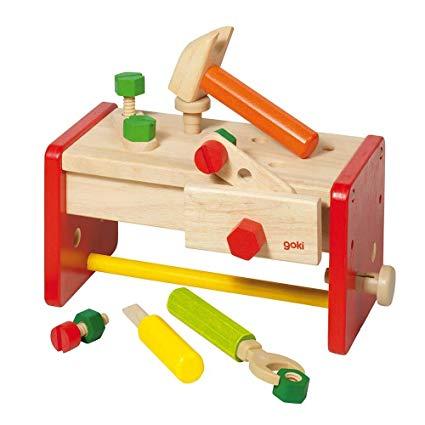 Goki 58871 Werkbank Inklusive Aufbewahrungsbox Spielzeug Test 2019