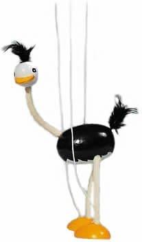 Goki SO104 Strauß Marionette Puppe
