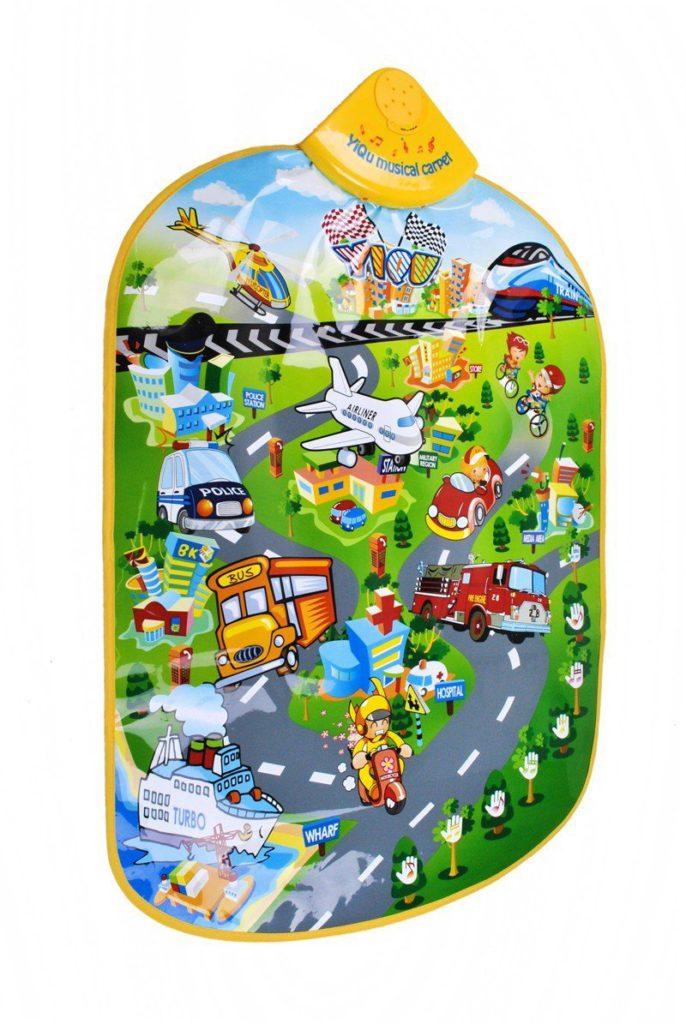 Spielteppich Spielmatte Baby Spielzeug Stadt Straße Musikmatte Kinder 1382