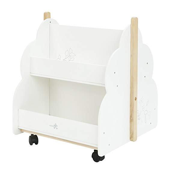 labebe Kinder Bücherregal Weiß