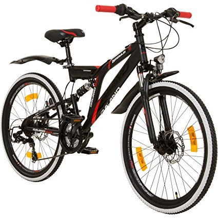no name galano 24 zoll mtb fully adrenalin ds mountainbike spielzeug test 2019. Black Bedroom Furniture Sets. Home Design Ideas