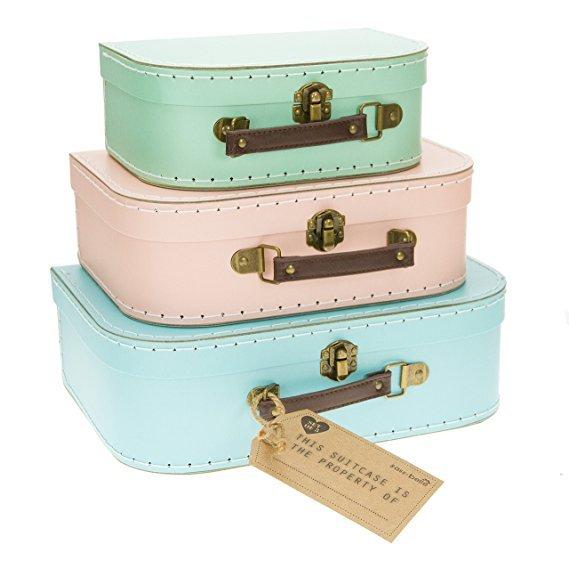No Name Sass&Belle 3er Kofferset pastellfarbig