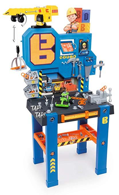 Smoby 360715 - Bob der Baumeister Werkbank-Center mit Kran