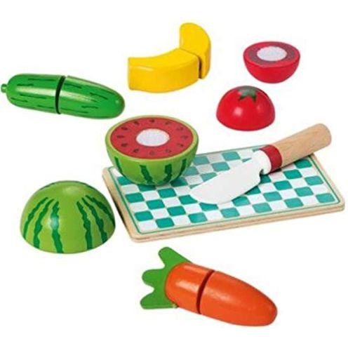 PLAYTIVE JUNIOR Lebensmittel-Set aus Echtholz