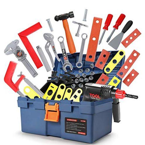 GeyiieToys Kinder Werkzeugkoffer 31-in-1