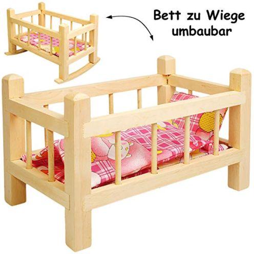 alles-meine.de GmbH 2 in 1: Puppenbett & Puppenwiege
