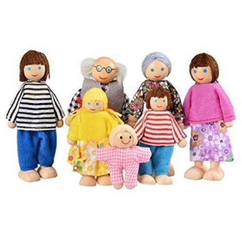 Arshiner AM001786 7-köpfige Puppenfamilie