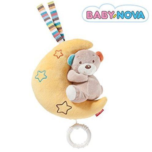 BABY-NOVA Spieluhr Mond mit Teddy Bär