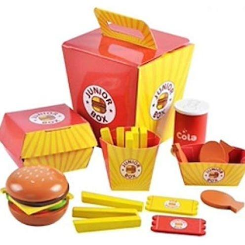 BabyHugs Kinder Holz Burger-Mahlzeit