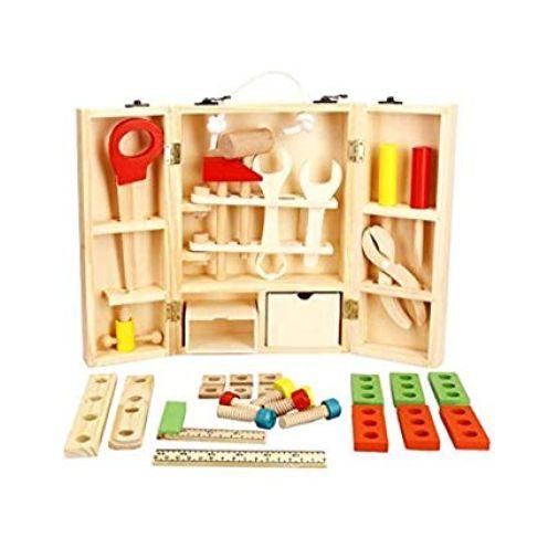 BabyHugs Tragbare Werkzeugkiste aus Holz