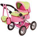Bayer Design Puppenwagen Trendy in Pink und Grün