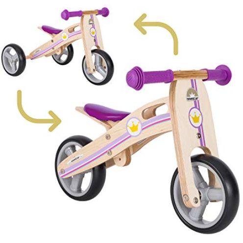 BIKESTAR Mini Kinder Laufrad Holz