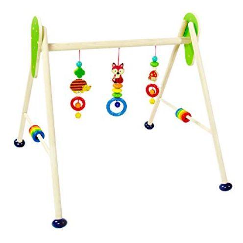 Hess Holzspielzeug 13379 Babyspielgerät aus Holz Waldtiere