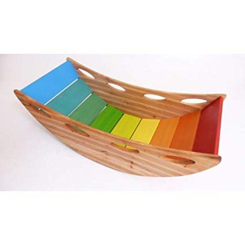 Holzspielzeug-Peitz Bunte Kinder-Baby-Wippe 8070