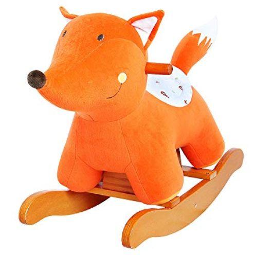 Labebe Baby Schaukelpferd Orange Fuchs