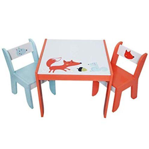 Labebe Kindertisch Holz Weiß Fuchs