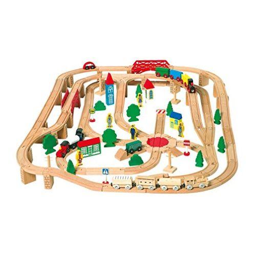 Legler Holzeisenbahn mit 140 Teilen