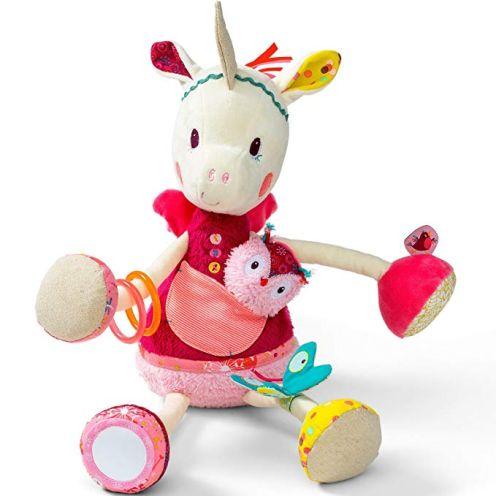 Lilliputiens Einhorn Louise in bunt mit Spielelementen